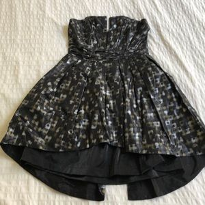 Chic black, gold & silver party dress